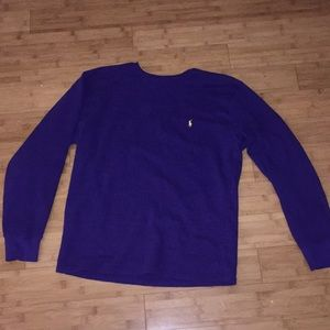 Long sleeve Purple Polo tee